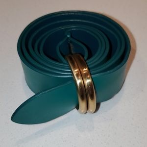Green Leather belt small